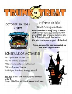 2021Trunk or Treat flyer