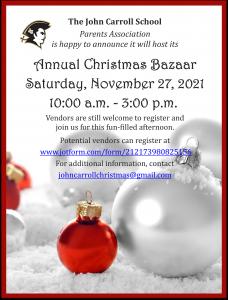 John Carroll Christmas Bazaar 11-27-21